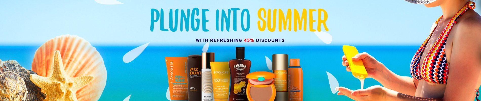 Plunge into summer with refreshing 45% discounts