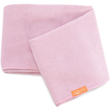 Aquis Lisse Luxe Long Hair Towel Pink 50x132cm