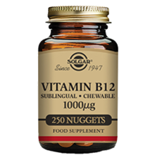 Solgar Vitamin B12 1000 µg Sublingual - Chewable Nuggets - Pack of 100