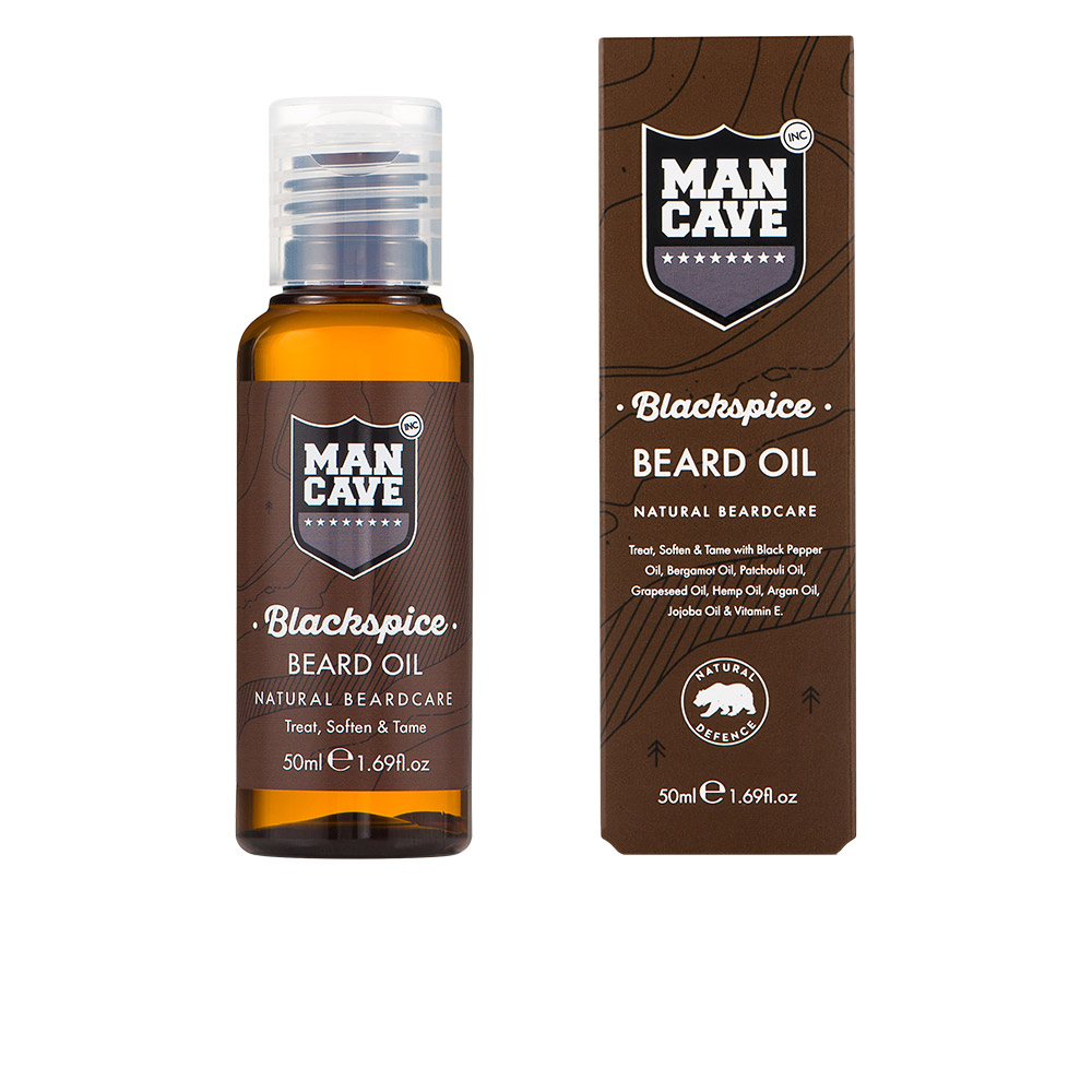 Man Cave Hair Products : Man cave beard care blackspice oil ml