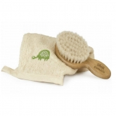Chicco Pure Bio Brush And Natural Glove Set 2 Pieces