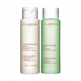 Clarins Cleansing Milk Combination Or Oily Skin 200ml Set 2 Pieces 2018