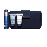 Clarins Men Revitalizing Gel 50ml+Exfoliating Gel 30ml+Shampoo&Showe Gel 30ml+Wash Bag