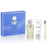 Eau De Rochas Eau De Toilette Spray 100ml Set 3 Pieces
