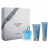 Dolce & Gabbana Light Blue Intense Homme Eau De Perfume Spray 100ml Set 3 Pieces 2017