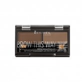 Rimmel Brow This Way Eyebrow Sculpting Kit 002 Mid Brown