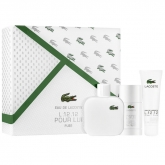 Lacoste L 12.12 Blanc Eau De Toilette Spray 100ml Set 3 Pieces 2018
