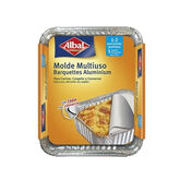 Albal Multipurpose Aluminum Mold With Lid 16x13cm 5 Units