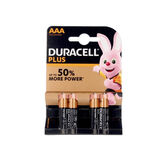 Duracell Plus Power Pilas Alcalinas AAA LR03/MN2400 4 Unidades