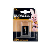 Duracell Plus Alkaline Battery 9V 6LR61 / MN1604 1 Unit