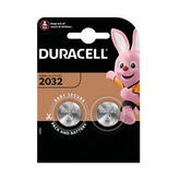 Duracell Lithium Button Battery 3V 2032 DL / CR2032 2 Units