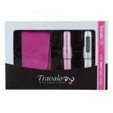 Travalo Pink and Silver 2x 5ml Set 3 Pieces