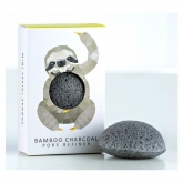 The Konjac Rainforest Sloth Mini Face Puff Bamboo Charcoal