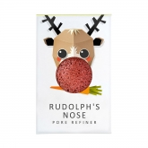 The Konjac Rudolph Pure Konjac Mini Face Puff With Red Frech Clay