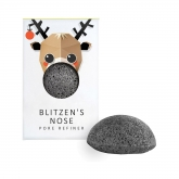 The Konjac Blitzen Pure Konjac Mini Face Puff With Bamboo Charcoal