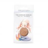 The Konjac Mythical Mermaid Sponge Box And Hook Pink Clay
