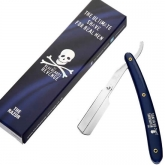 The Bluebeards Revenge Blue Handle Shavette With Logo