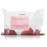 Korres Oxicol Cleansing & Make-Up Removing Wipes Pomegranate