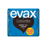 Evax Cottonlike Night With Wings Sanitary Towels 9 Units
