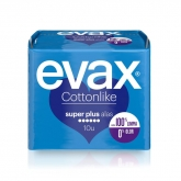 Evax Cottonlike Super Plus Compresas Con Alas 10u