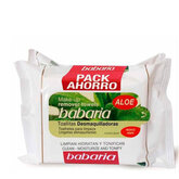 Babaria Aloe Vera Make-Up Remover Wipes With Micellar Water Pack 2x20units