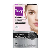 Taky Carbon Activado Facial Wax Strips 20 Units