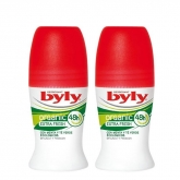 Byly Organic Extra Fresh Roll On Deodorant 2x50ml