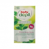 Byly Depil Hair Removal Strips Body With Mint And Green Tea 12 Units