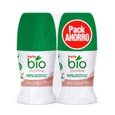 Byly Bio Natural 0% Invisible Deodorant Roll On 2x50ml