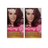 Nelly Creme Intense Tinte Permanente 5.55 Caoba Rojo 2 Unidades