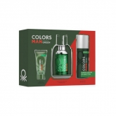 Benetton Colors Man Green Eau De Toilette Spray 100ml Set 3 Piezas 2018
