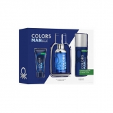 Benetton Colors Man Blue Eau De Toilette Spray 100ml Set 3 Piezas 2018