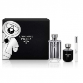 Prada L'Homme Eau De Toilette Spray 100ml Set 3 Pieces 2018