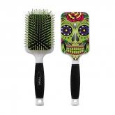Bifull Racket Hair Brush Green Skull
