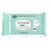 Byphasse Makeup Remover Wipes Aloe Vera Sensitive Skin 40U