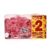 Foxy Bouquet Color Toilet Paper 3 Layers 4 + 2 Rolls