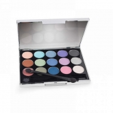 Silver Palette With Built-In Mirror 15 Shades