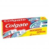 Colgate Triple Action Pasta De Dientes 2x75ml