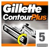 Gillette Contour Plus Refill 5 Units