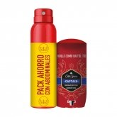 Old Spice Desodorante Captain Stick 50ml Y Desodorante Captain Spray 150ml