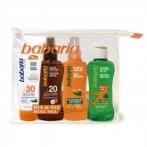 Babaria Sun Balsalm 100ml Make-Up Travel Bag Facial And Oil Set 4 Pieces 2020