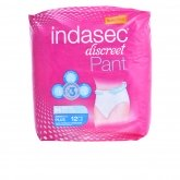 Indasec Pant Plus Medium Size 12 Units