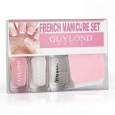 French Manicure Set With Nail File and Nail Sticke