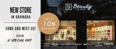Your beauty boutique is arriving at Bib-Rambla. Come and meet us and receive a 10% DISCOUNT
