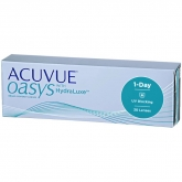 Acuvue Oasys Hydraluxe Contact Lenses 1 Day Replacement  30 Units