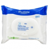 Mustela Baby Facial Cleansing Cloths 25 Wipes
