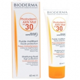 Bioderma Photoderm Matifying Fluid AKN Mat Spf30 Combination Oily Skin 40ml