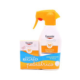 Eucerin Pack Sun Kids Spray Sensitive Protect SPF50 300ml+ Fluid Sensitive Protect SPF50 50ml