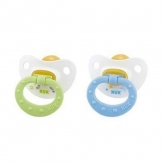Nuk Classic Happy Kids Soother Size 1 Latex 0-6 Months 2 Units