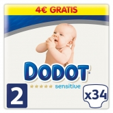 Dodot Protection Plus Sensitive T-2 34 Unidades